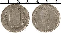 Изображение Монеты Европа Швейцария 5 франков 1933 Серебро VF+