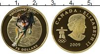 Изображение Монеты Канада 75 долларов 2009 Золото Proof Олимпиада в Ванкувер