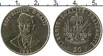 Изображение Монеты Гаити 20 центов 1991 Медно-никель UNC-