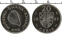 Изображение Монеты Гана 20 седи 1997 Медно-никель UNC-