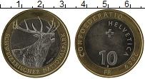Изображение Монеты Швейцария 10 франков 2009 Биметалл UNC- Национальный парк