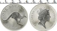 Изображение Монеты Австралия 1 доллар 1993 Серебро UNC- Кенгуру, 1 oz