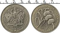 Изображение Монеты Северная Америка Сент Киттс-Невис 4 доллара 1970 Медно-никель UNC-
