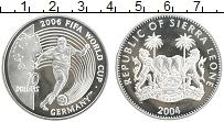 Изображение Монеты Сьерра-Леоне 10 долларов 2004 Серебро Proof- ЧМ по футболу 2006