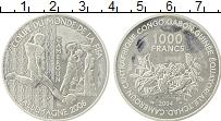 Изображение Монеты Камерун 1000 франков 2004 Серебро Proof- ЧМ по футболу 2006