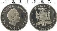 Изображение Монеты Замбия 5 шиллингов 1965 Медно-никель UNC- Президент Каунда
