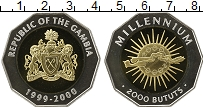 Изображение Монеты Гамбия 2000 бутут 2000 Серебро Proof