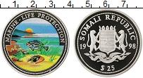 Изображение Монеты Сомали 25 долларов 1998 Серебро Proof Защита морской жизни