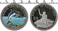 Изображение Монеты Палау 5 долларов 2000 Серебро Proof Защита морской жизни