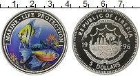 Изображение Монеты Либерия 5 долларов 1996 Серебро Proof Защита морской жизни
