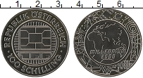 Изображение Монеты Австрия 100 шиллингов 2000 Серебро Proof Миллениум (Вставка и