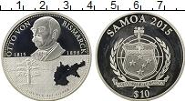 Изображение Монеты Самоа 10 долларов 2015 Серебро Proof- Отто фон Бисмарк
