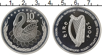 Изображение Монеты Ирландия 10 евро 2004 Серебро Proof-
