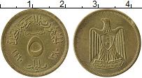 Изображение Монеты Египет 5 миллим 1960 Латунь UNC-