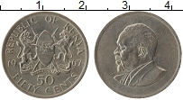 Изображение Монеты Кения 50 центов 1967 Медно-никель XF Мзее Йомо Кеньятта