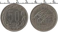 Изображение Монеты Центральная Африка 50 франков 1961 Медно-никель XF-