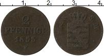 Изображение Монеты Саксе-Мейнинген 2 пфеннига 1855 Медь VF F