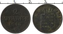 Изображение Монеты Саксе-Мейнинген 2 пфеннига 1848 Медь VF F