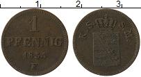 Изображение Монеты Саксе-Мейнинген 1 пфенниг 1854 Медь VF F