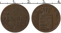Изображение Монеты Саксе-Мейнинген 2 пфеннига 1847 Медь VF F