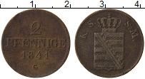 Изображение Монеты Саксе-Мейнинген 2 пфеннига 1841 Медь VF
