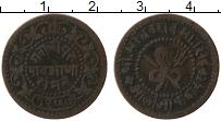 Изображение Монеты Индия Гвалиор 1/4 анны 1900 Медь VF