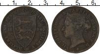 Изображение Монеты Остров Джерси 1/12 шиллинга 1894 Бронза VF Виктория
