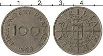 Изображение Монеты Германия Саар 100 франков 1955 Медно-никель XF-