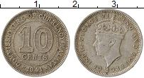 Изображение Монеты Малайя 10 центов 1941 Серебро VF Георг VI
