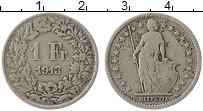 Изображение Монеты Швейцария 1 франк 1913 Серебро VF