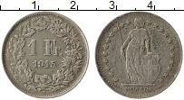Изображение Монеты Швейцария 1 франк 1945 Серебро VF