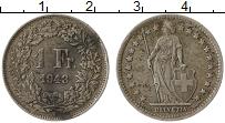 Изображение Монеты Швейцария 1 франк 1943 Серебро VF