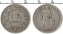 Изображение Монеты Швейцария 1 франк 1909 Серебро VF