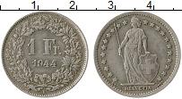 Изображение Монеты Швейцария 1 франк 1944 Серебро VF