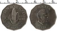 Изображение Монеты Замбия 50 нгвей 1972 Медно-никель UNC-