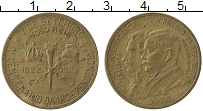 Изображение Монеты Бразилия 1000 рейс 1922 Латунь VF 100 лет Независимост