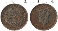 Изображение Монеты Западная Африка 3 пенса 1940 Медно-никель VF Георг VI
