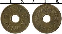 Изображение Монеты Фиджи 1 пенни 1943 Латунь VF