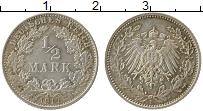 Изображение Монеты Германия 1/2 марки 1917 Серебро XF Е