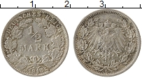 Изображение Монеты Германия 1/2 марки 1918 Серебро XF F