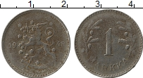 Изображение Монеты Финляндия 1 марка 1948 Железо XF-