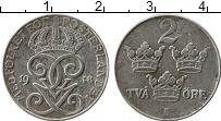 Изображение Монеты Швеция 2 эре 1948 Железо XF- Вензель