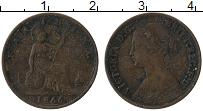 Изображение Монеты Великобритания 1 фартинг 1866 Бронза VF
