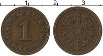 Изображение Монеты Германия 1 пфенниг 1889 Медь XF А