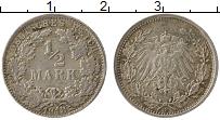 Изображение Монеты Германия 1/2 марки 1918 Серебро VF