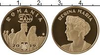 Изображение Мелочь Румыния 50 бани 2019 Латунь Proof Королева Румынии Мар