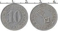 Изображение Монеты Бремен 10 пфеннигов 1924 Алюминий XF