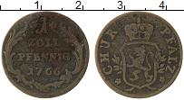 Изображение Монеты Германия Пфальц-Сульбах 1 пфенниг 1766 Медь VF