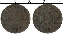 Изображение Монеты Тоскана 2 сентесимо 1859 Медь XF- Витторио Эмануил