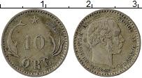 Изображение Монеты Дания 10 эре 1894 Серебро XF Кристиан IX